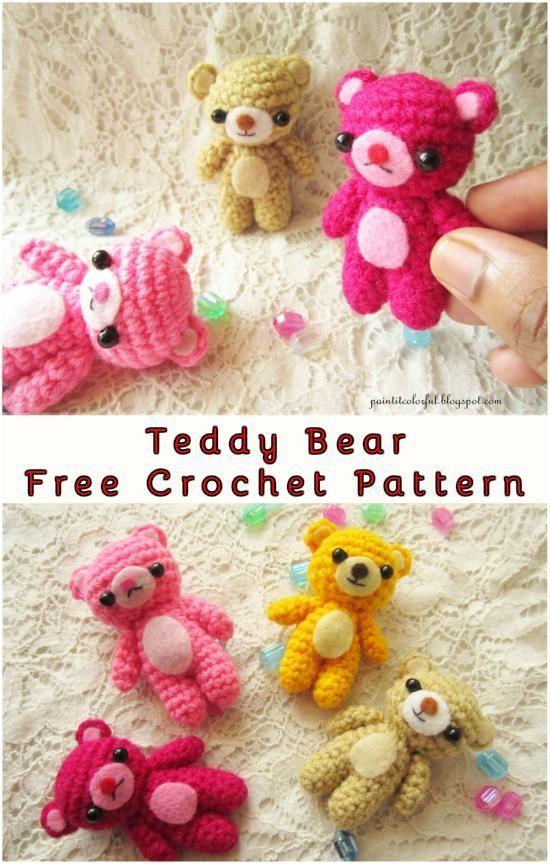 Teddy Bear Amigurumi #crochetbearpatterns