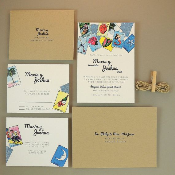 Stationery Maria Suite Mexican Loteria Wedding
