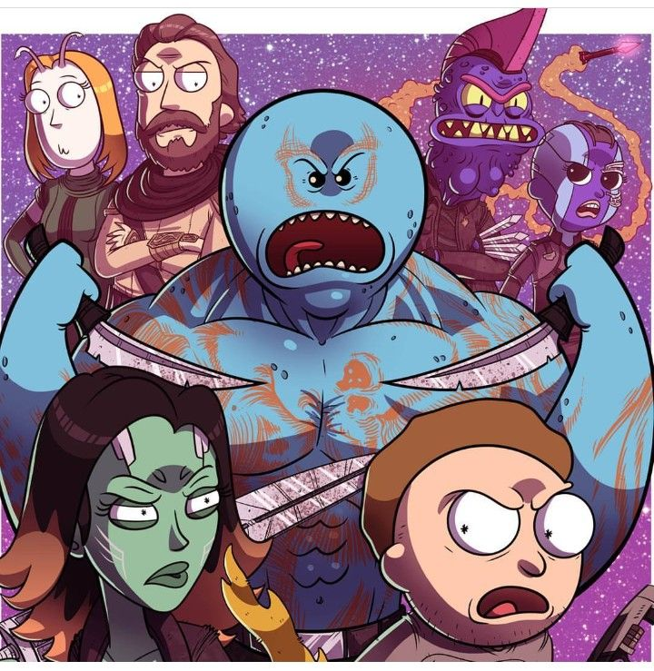 Rick And Morty Guardians Of The Galaxy Rick And Morty Crossover Rick And Morty Rick And Morty Characters