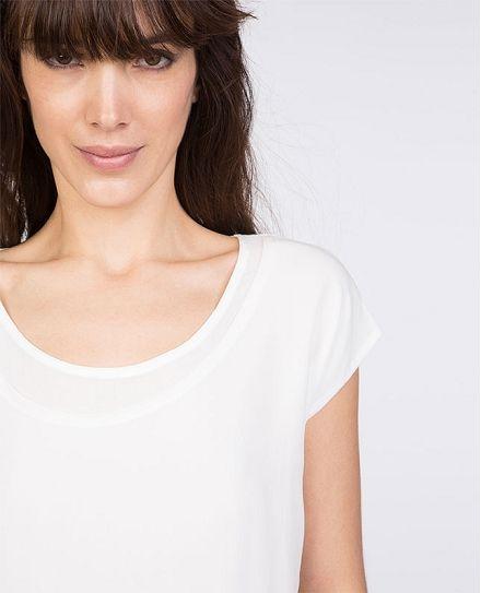 Fabric blend top | T-shirts | Comptoir des Cotonniers