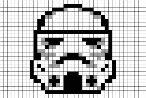Star Wars Stormtrooper Pixel Art 8 Bit Art Art