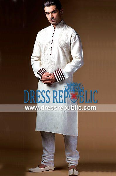 911b014493 Latest Men Eid Formal Embroidered Kurta Designs Shalwar Kameez Collection  2015-2016 (17)