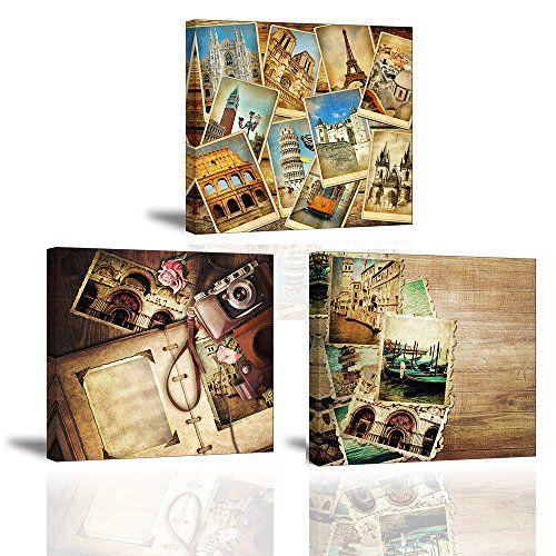 Offerta di oggi - Stampe e quadri su tela, Motivo Set di foto retrò ...