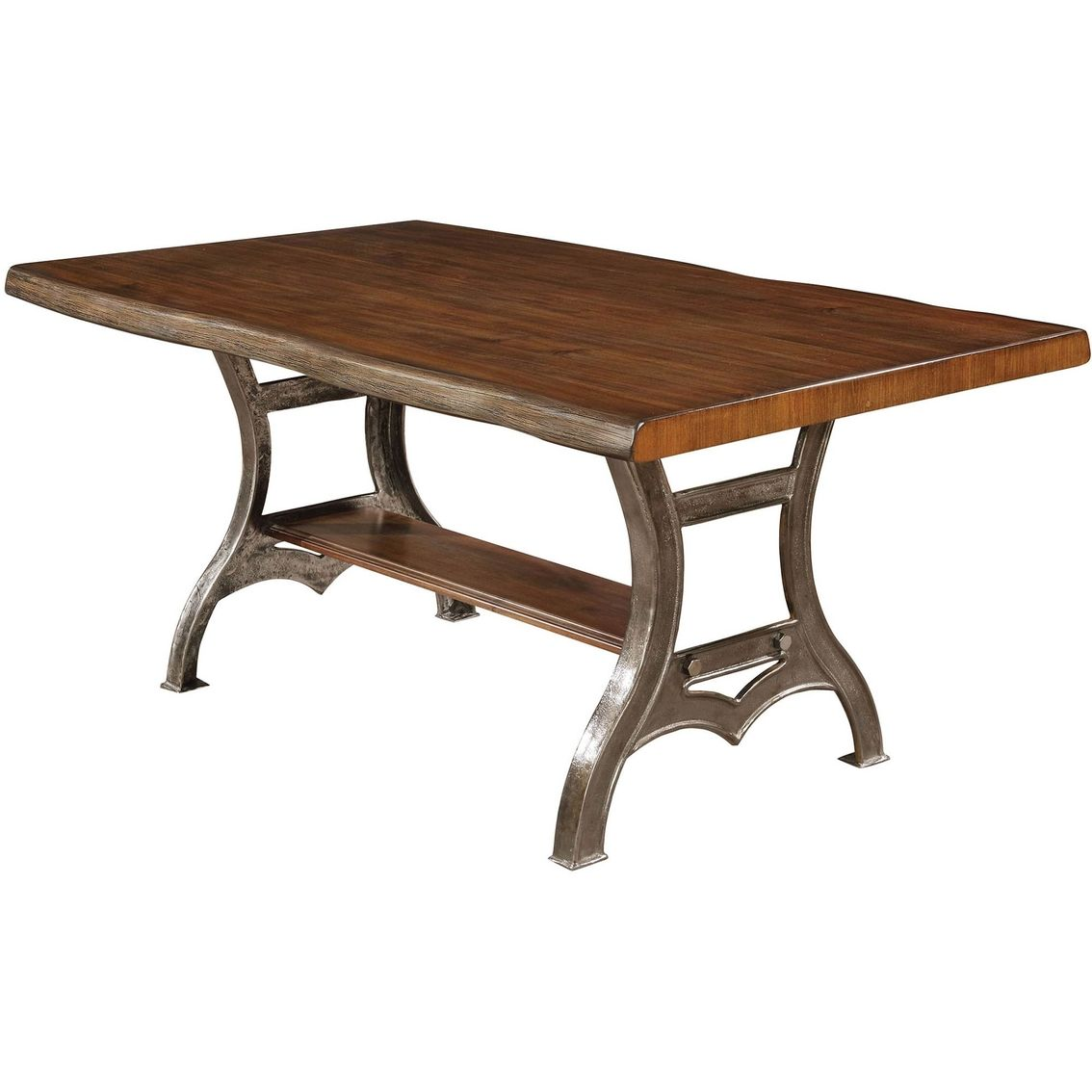Furniture Of America Leann Metal Wood Table Dining Table Dining