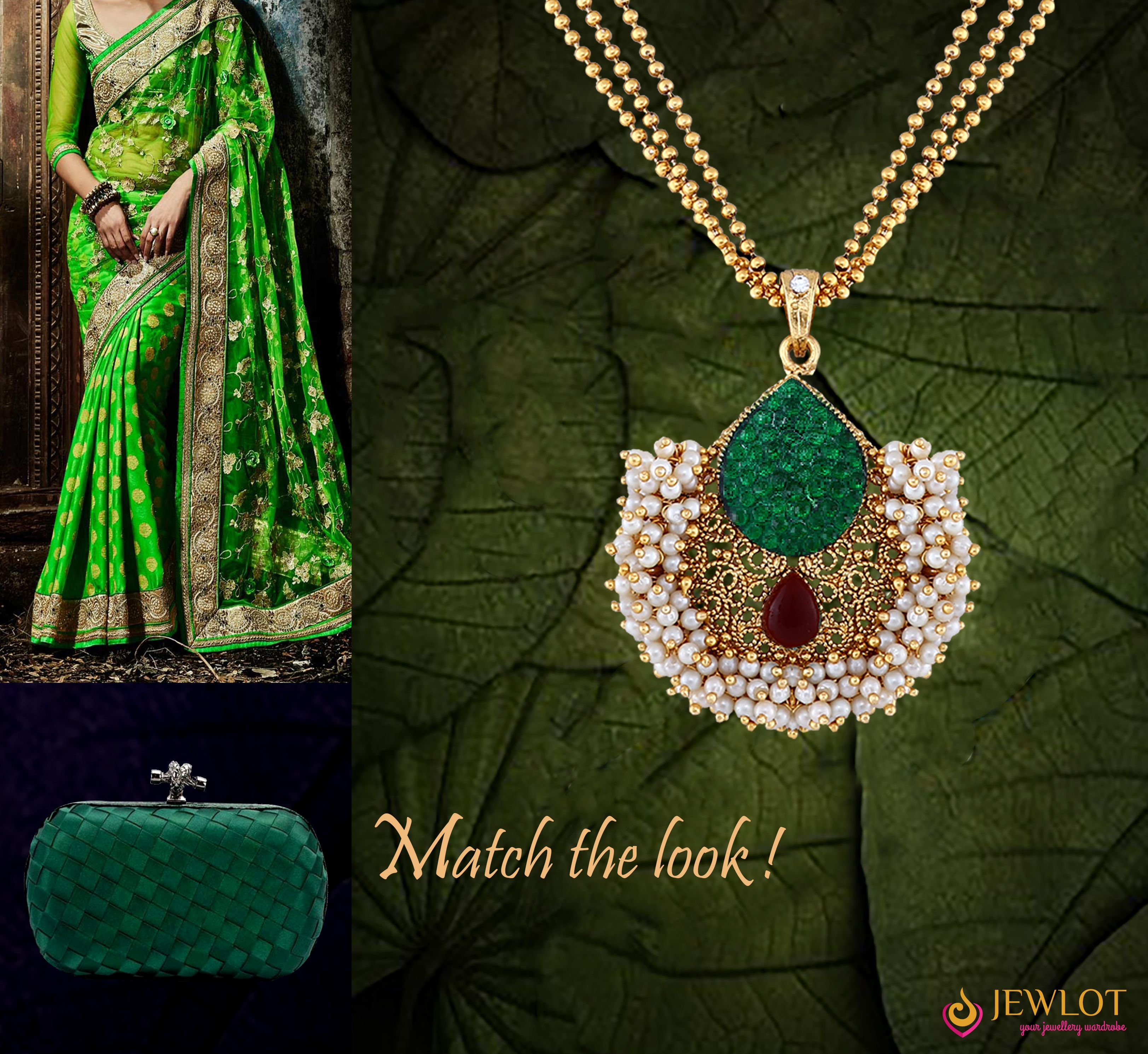 A gorgeous saree deserves a gorgeous necklace buy this beautiful