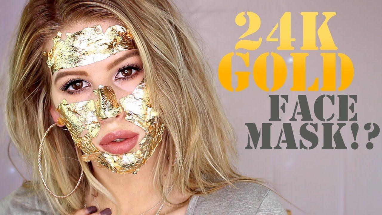 Diy 24k Gold Face Mask Demo First Impressions Gold Face