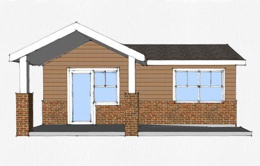 Casa de 1 dormitorio y 45 metros cuadrados arquitectura for Diseno de apartamentos de 45 metros cuadrados