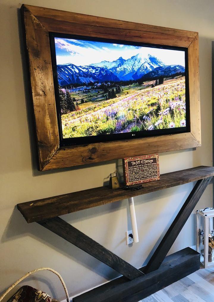 Rustic Farmhouse Custom TV Frame #rusticfarmhouse ...