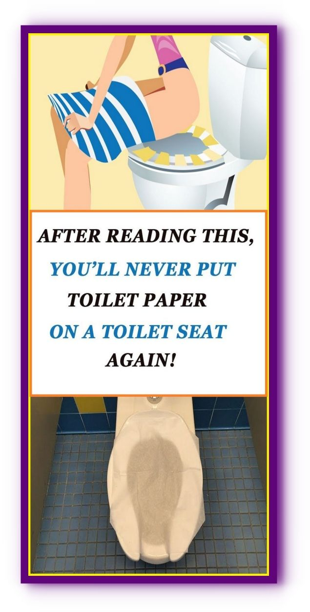 Never Put Toilet Paper On Toilet Seat! Here's Why