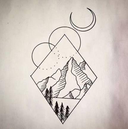 Geometric Art Drawing Doodles Design 30 Ideas Geometric Art Geometric Mountain Tattoo Doodle Designs