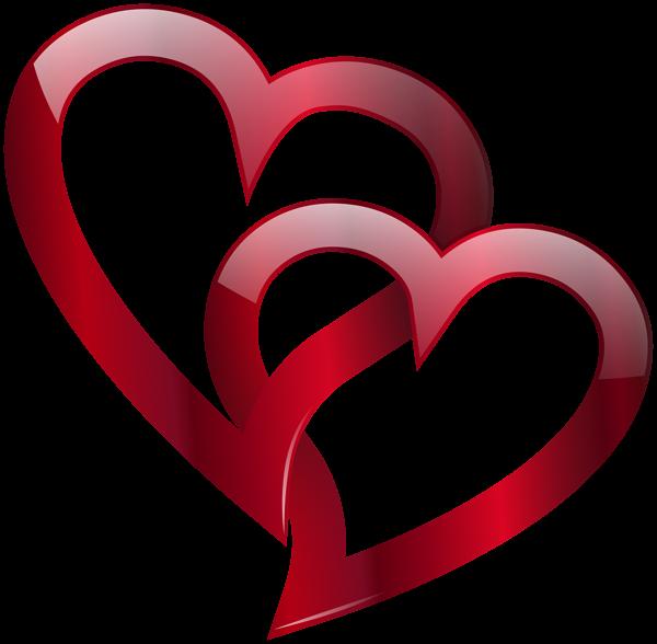 Red Double Heart Png Clip Art Image Heart Tattoo Bird Silhouette Art Heart Wallpaper