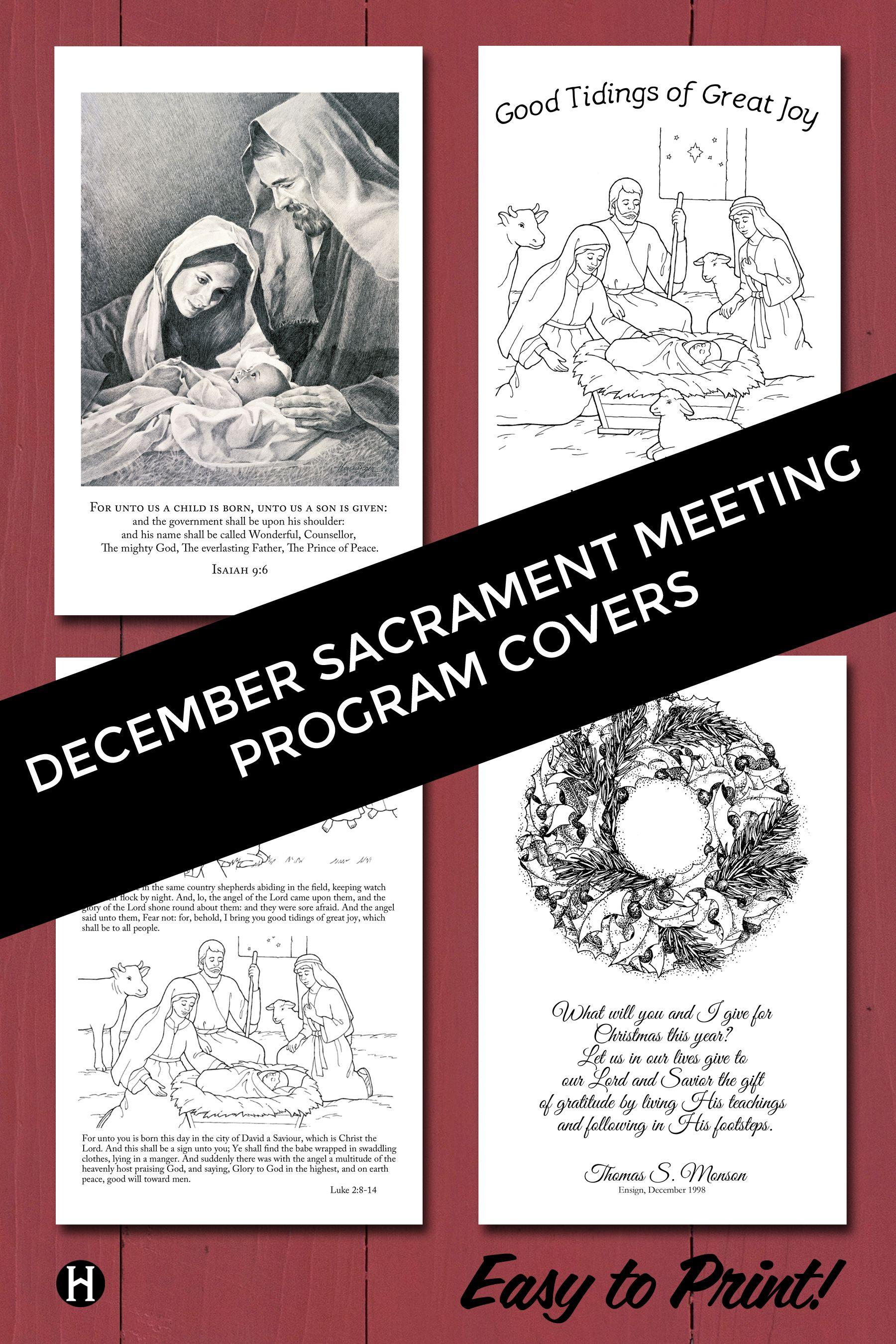 december sacrament meeting covers church pinterest lds lds