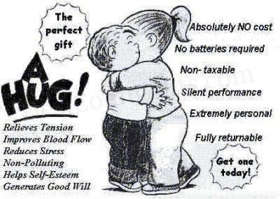 Family Circus Hug.  This is the B E S T!