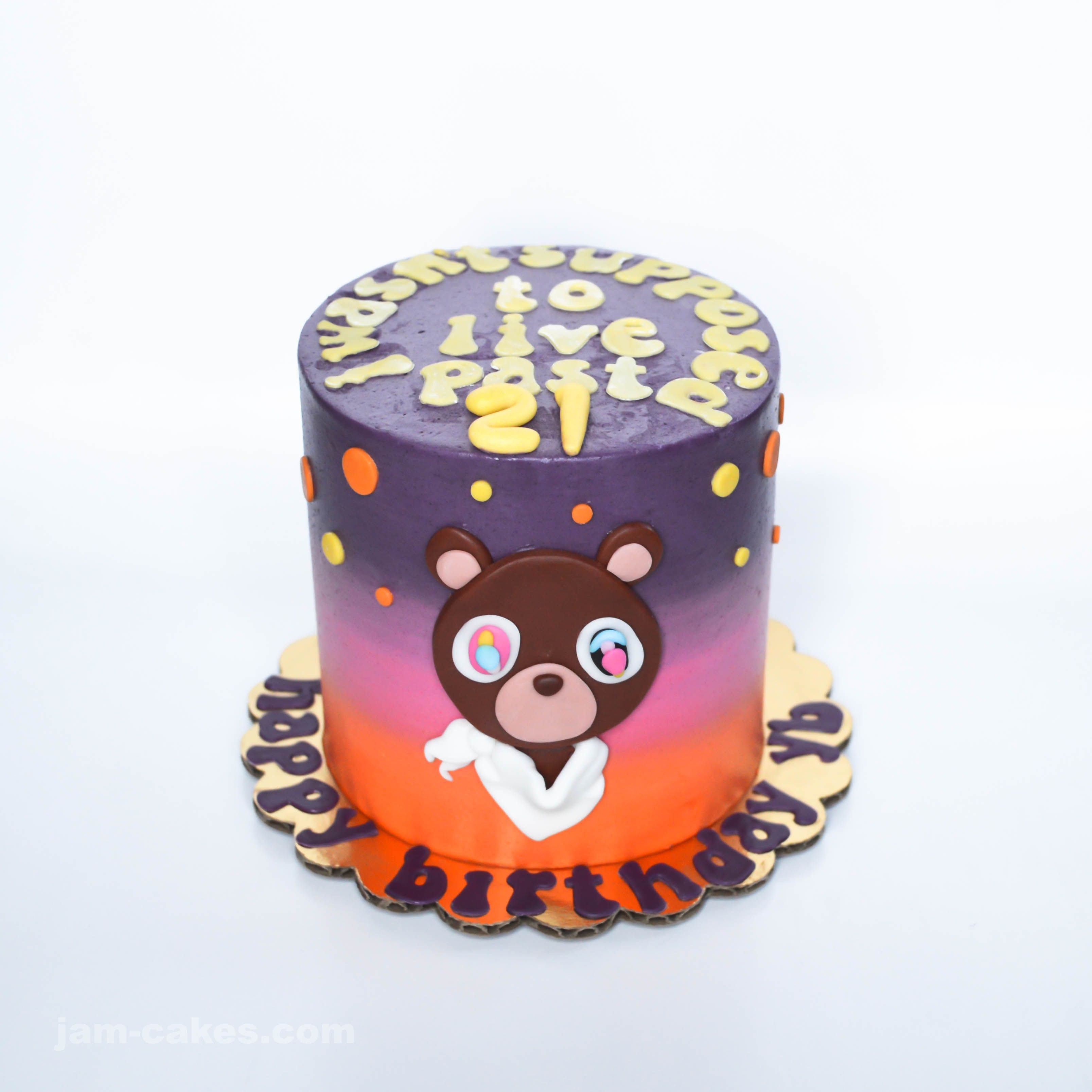 Kanye West Drop Out Bear Themed Mini Cake Cake 18th Birthday Cake Kids Cake