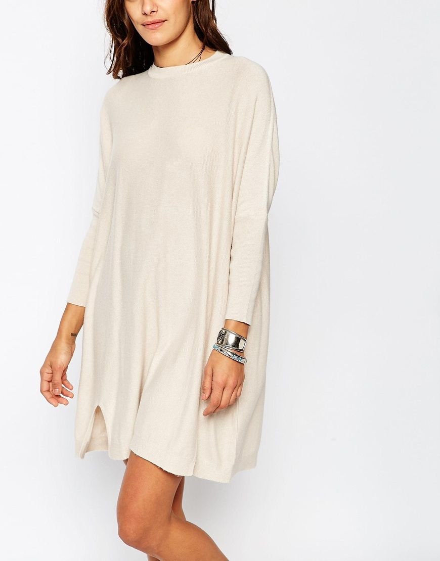 e7179f4827 Image 3 of ASOS Tunic Dress With Crew Neck In Cashmere Mix | Style ...