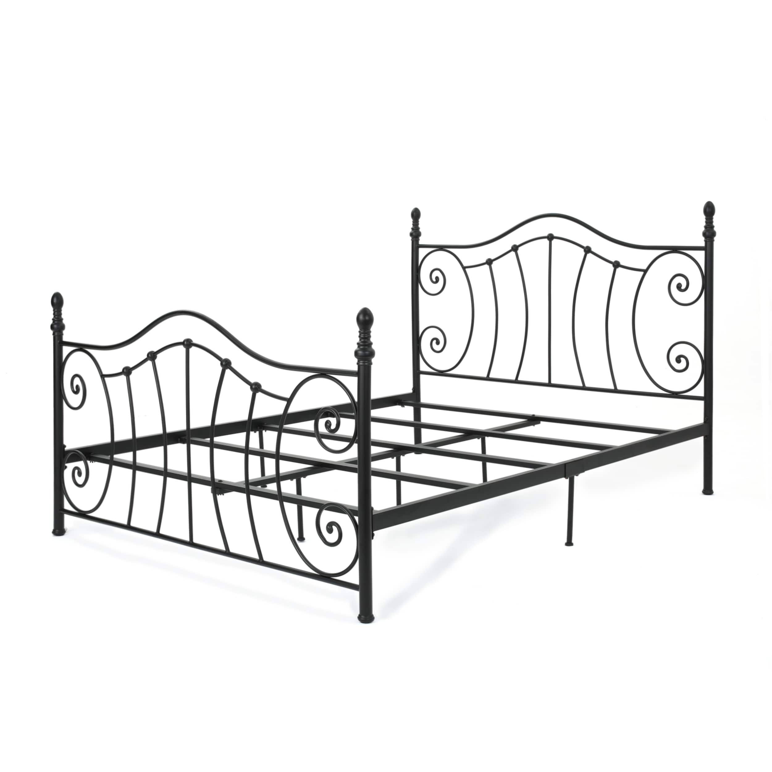 Caragh Classical Metal Queen-Sized Bed Frame by Christopher Knight ...