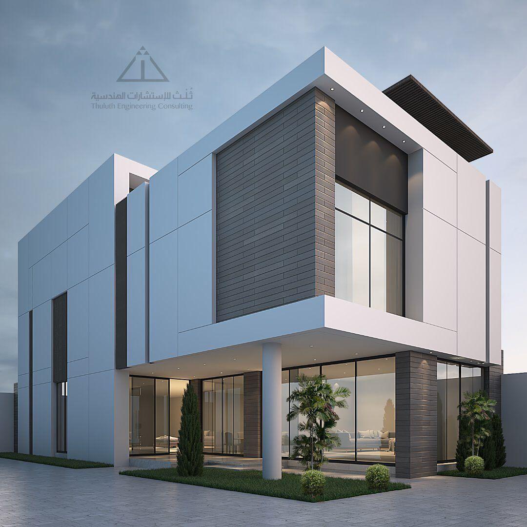 شركة ث لث مهندسون معماريون On Instagram من أع م النا ت صميم ف يلا مودرن بمس احة ٣٠٠م بمدينة الرياض Modern House Design House Styles House Design