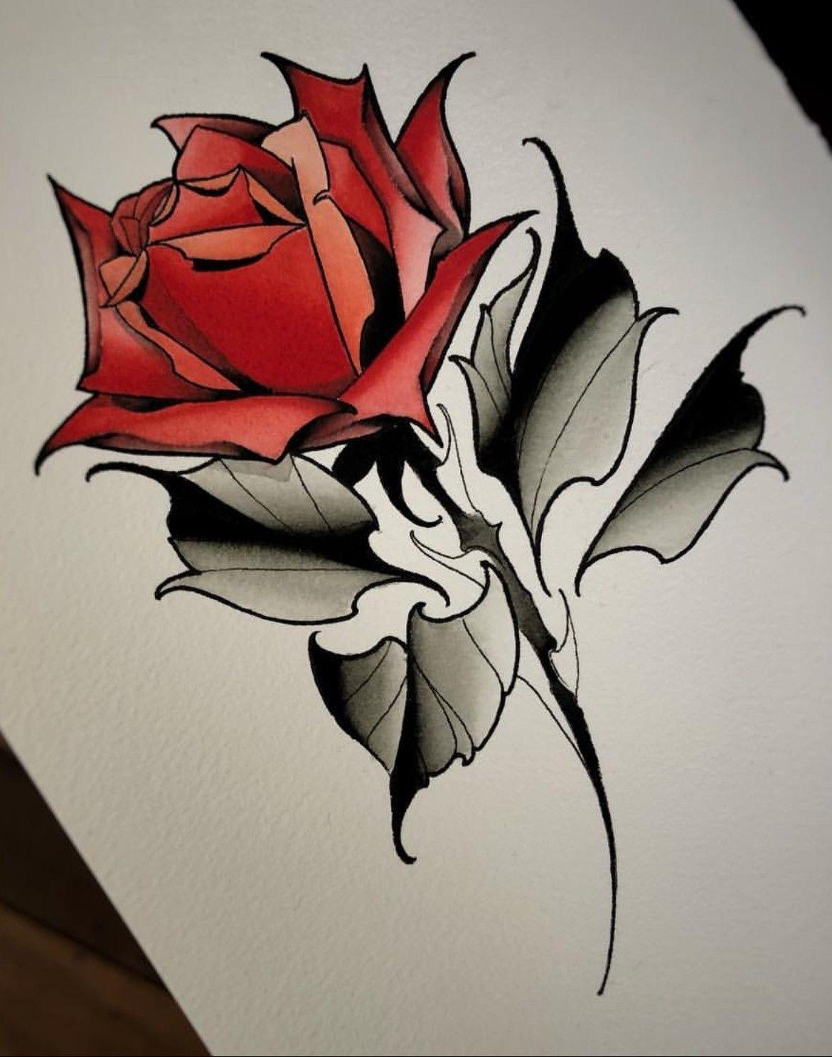 Pin By Jimena Mantilla On Tatuajes De Rosas Traditional Rose Tattoos Flower Tattoo Drawings Rose Drawing Tattoo