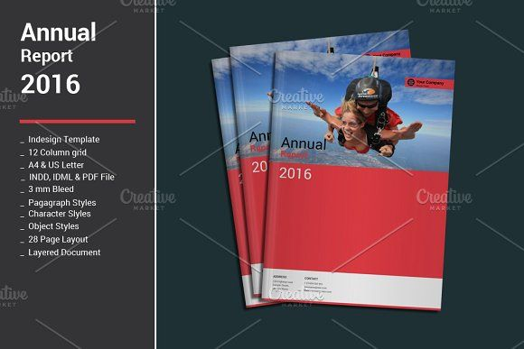 Annual Report Templates by alimran24 on @creativemarket brochure - free annual report templates
