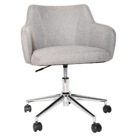 Room Essentials Uholstered Office Chair Grey Linen Upholstered Office Chair Stylish Office Chairs Comfortable Office Chair