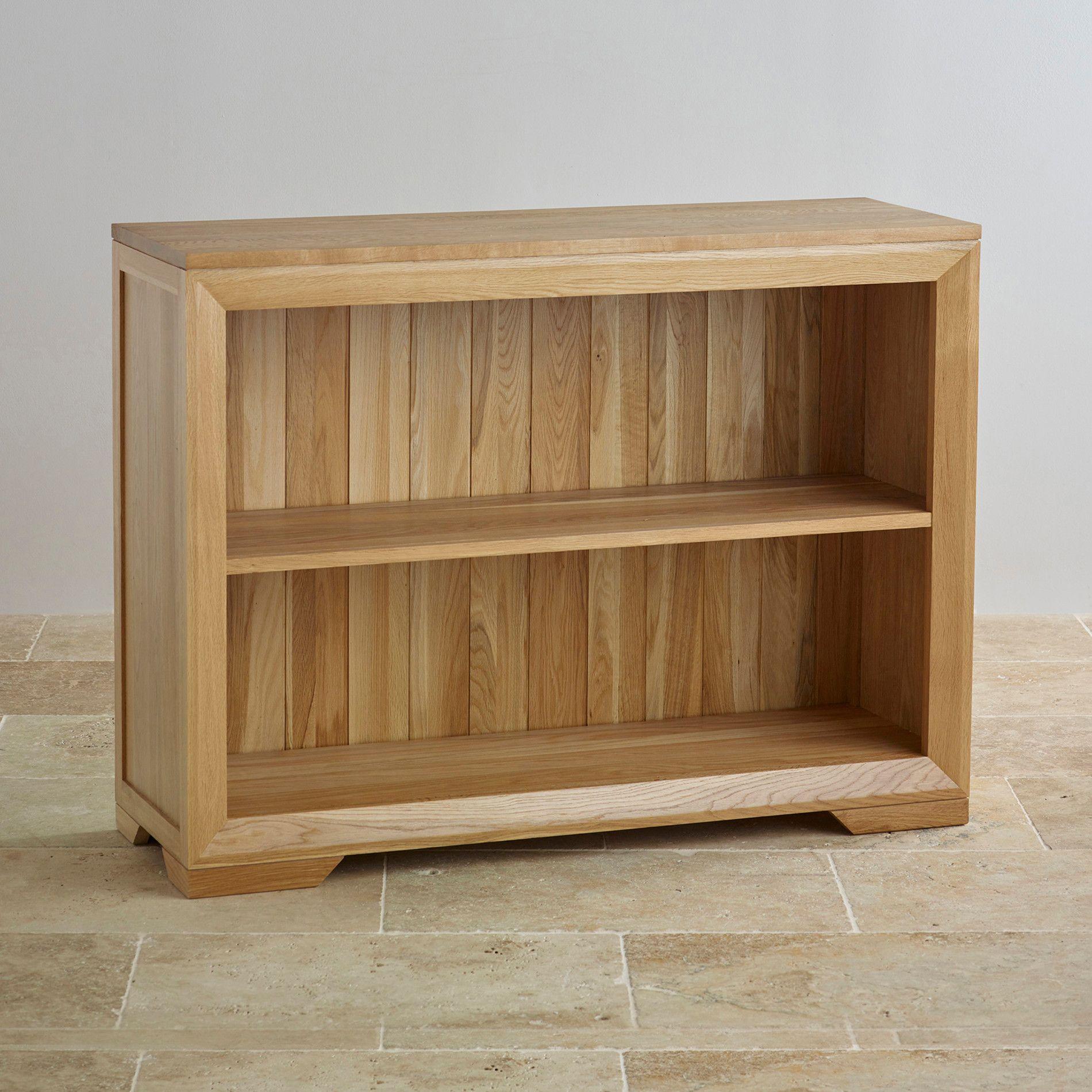 Bevel Natural Solid Oak Small Bookcase Hardware Design Meubels
