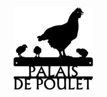 Poulet coupé en libre parcours Drôle Voiture Cuisine agricole Moyen Métal//Acier Mural Signe