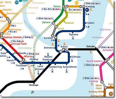 Public Transport Map of Istanbul, Turkey   Istanbul   Pinterest ...