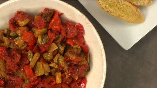 Red Pepper Eggplant Confit Recipe Text | Rouxbe Cooking School