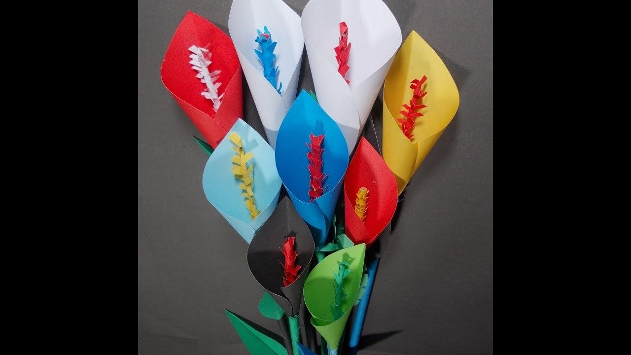 How To Make Calla Lily Flower Easy Origami Flowers For Beginners