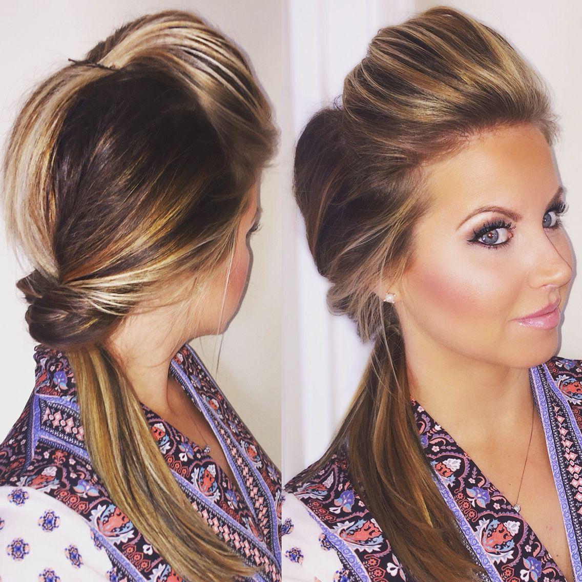 Contour and a topsy tail hair makeup hair affair hair