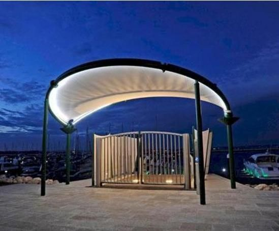 Bandshell Tensile Fabric Canopy Roof Design Architecture Fabric Canopy