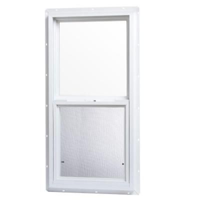 Window. TAFCO WINDOWS 18 in  x 36 in  Single Hung Vinyl Window   White