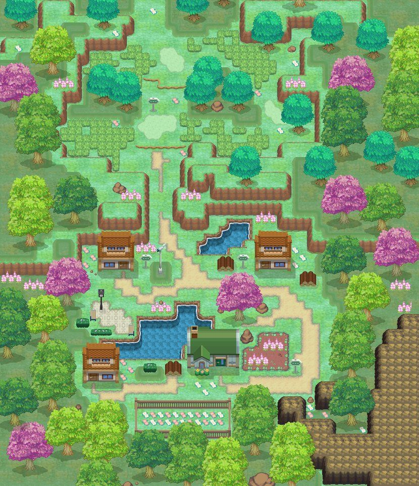 Route 101 and Littleroot town Pokemon RAZA by LTSeraa