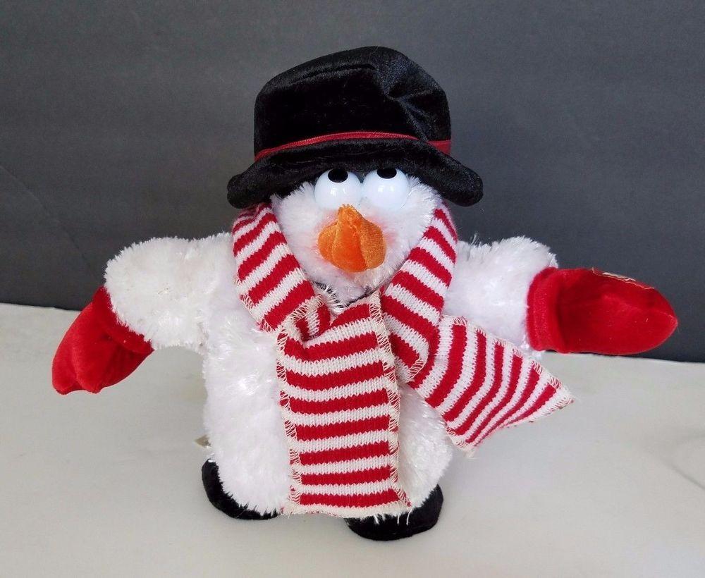 0771383706b4d DanDee Singing Dancing Snowman Plush 8
