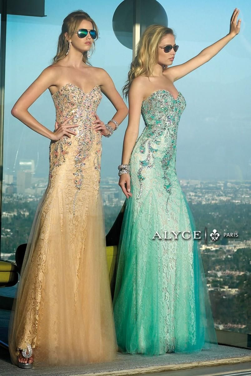 Must take a picture like this at prom! Style #6390 | Alyce Paris ...