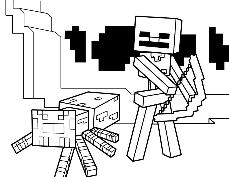 minecraft printable colouring sheets # 23