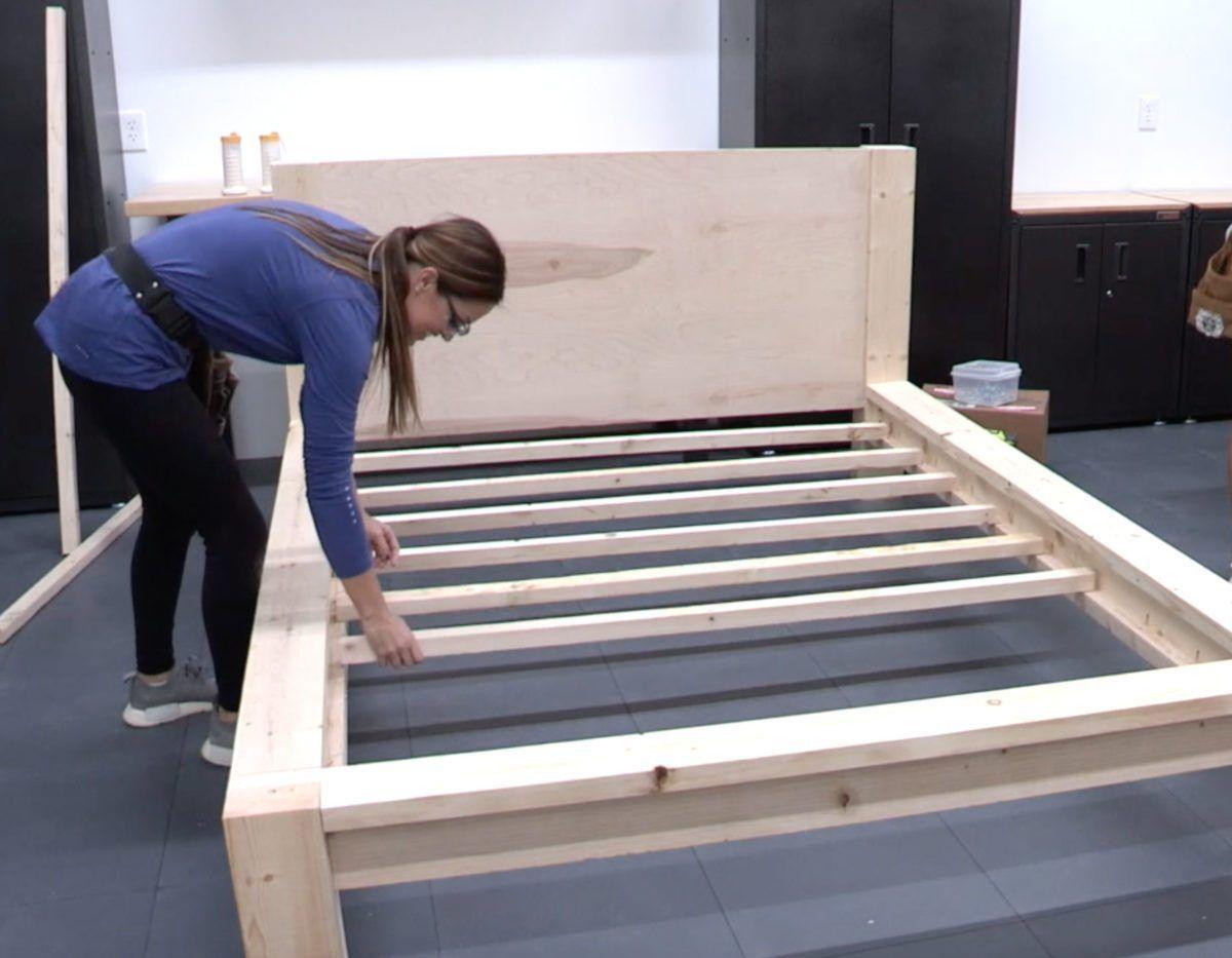Diy 100 Rustic Modern Queen Bed Free Plans Tutorial Modern