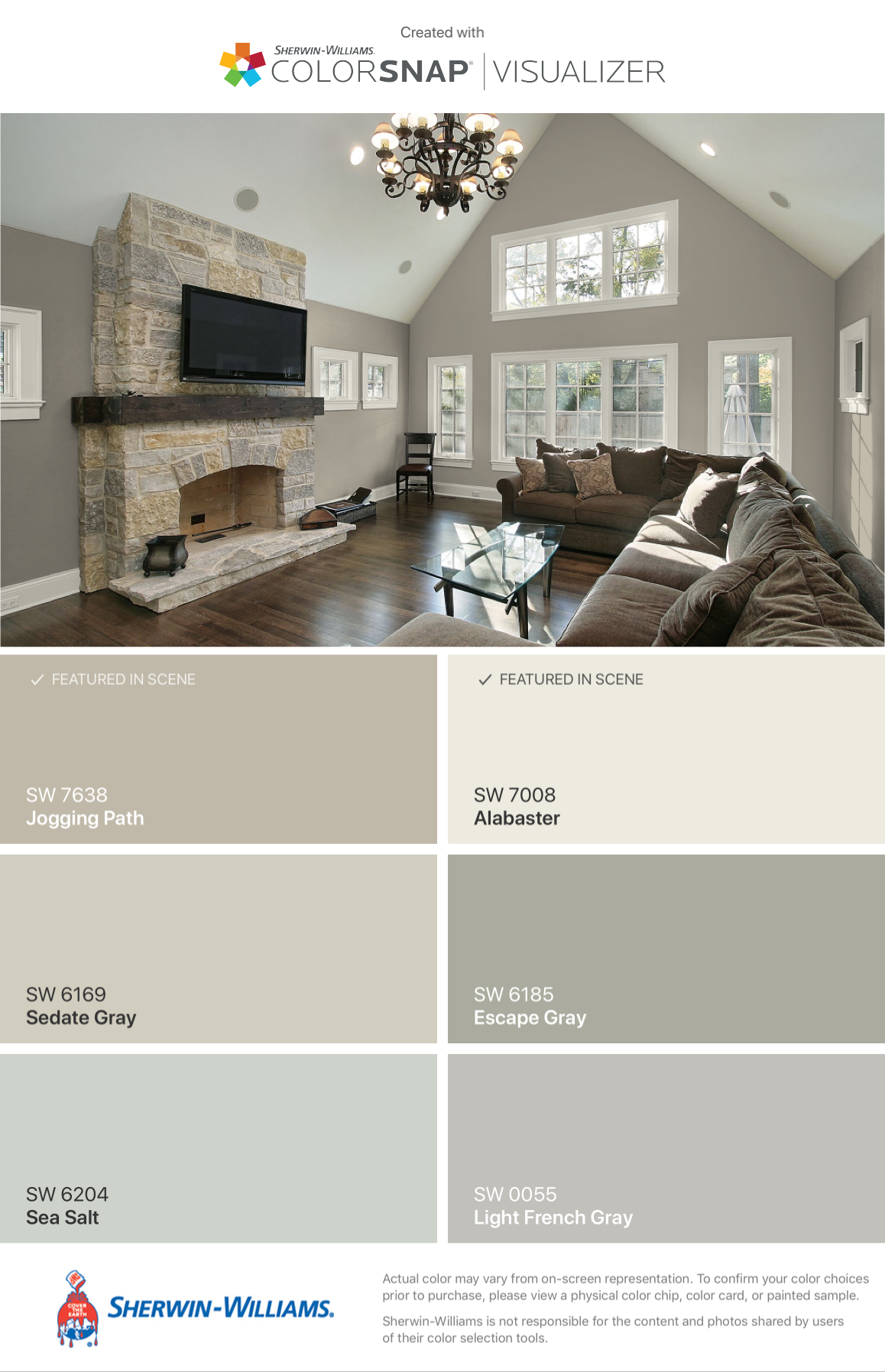 sedate gray, alabaster & sea salt | PAINT | Pinterest | Favoriten ...