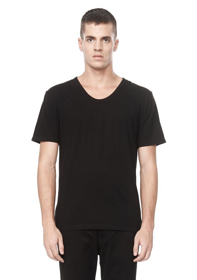 CLASSIC LOW NECK TEE - Men Tees - Alexander Wang Official Site