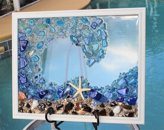 beach decor sea glass art window beach glass window. Black Bedroom Furniture Sets. Home Design Ideas