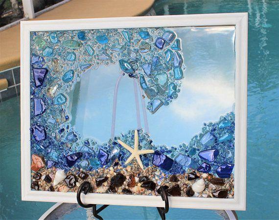 Beach Decor Sea Glass Art Window Beach Glass Window Ocean Wall