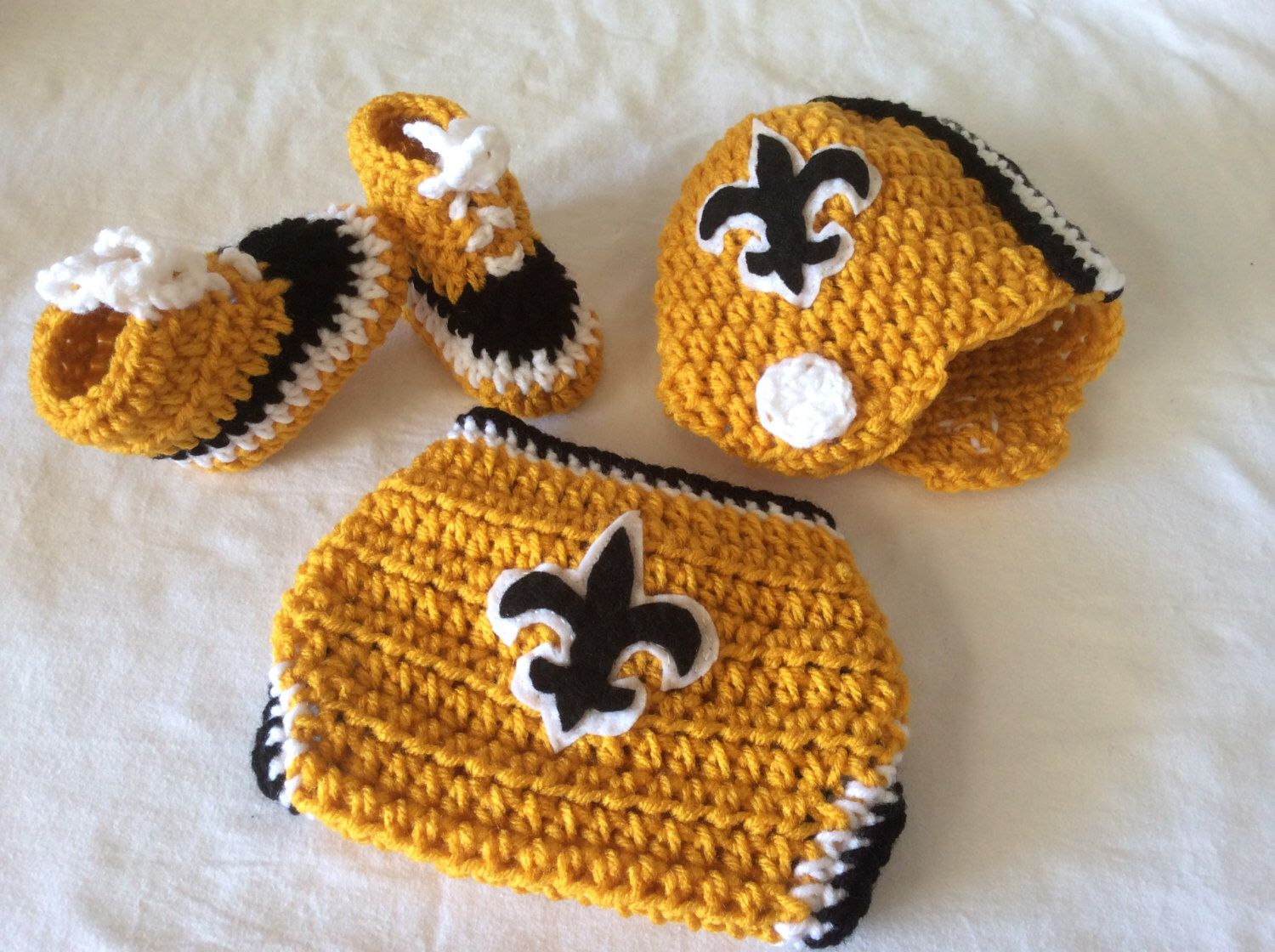 Free shipping baby crochet football hat diaper cover and shoes free shipping baby crochet football hat diaper cover and shoes new orleans bankloansurffo Choice Image