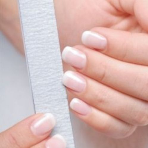 Natural Nails Or Acrylics Painted Clear Diy Acrylic Nails Different Nail Shapes Acrylic Nails At Home