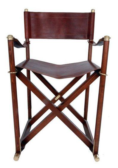 Elegant Leather Director Chair