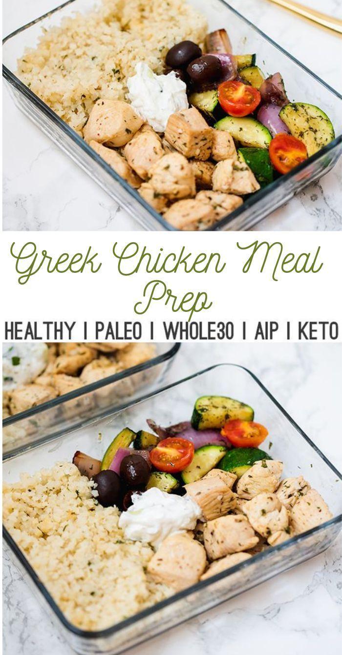 Photo of One Pan Greek Chicken Meal Prep #chickenmeal #diet #weeklymealprep Dieses One-Skil …