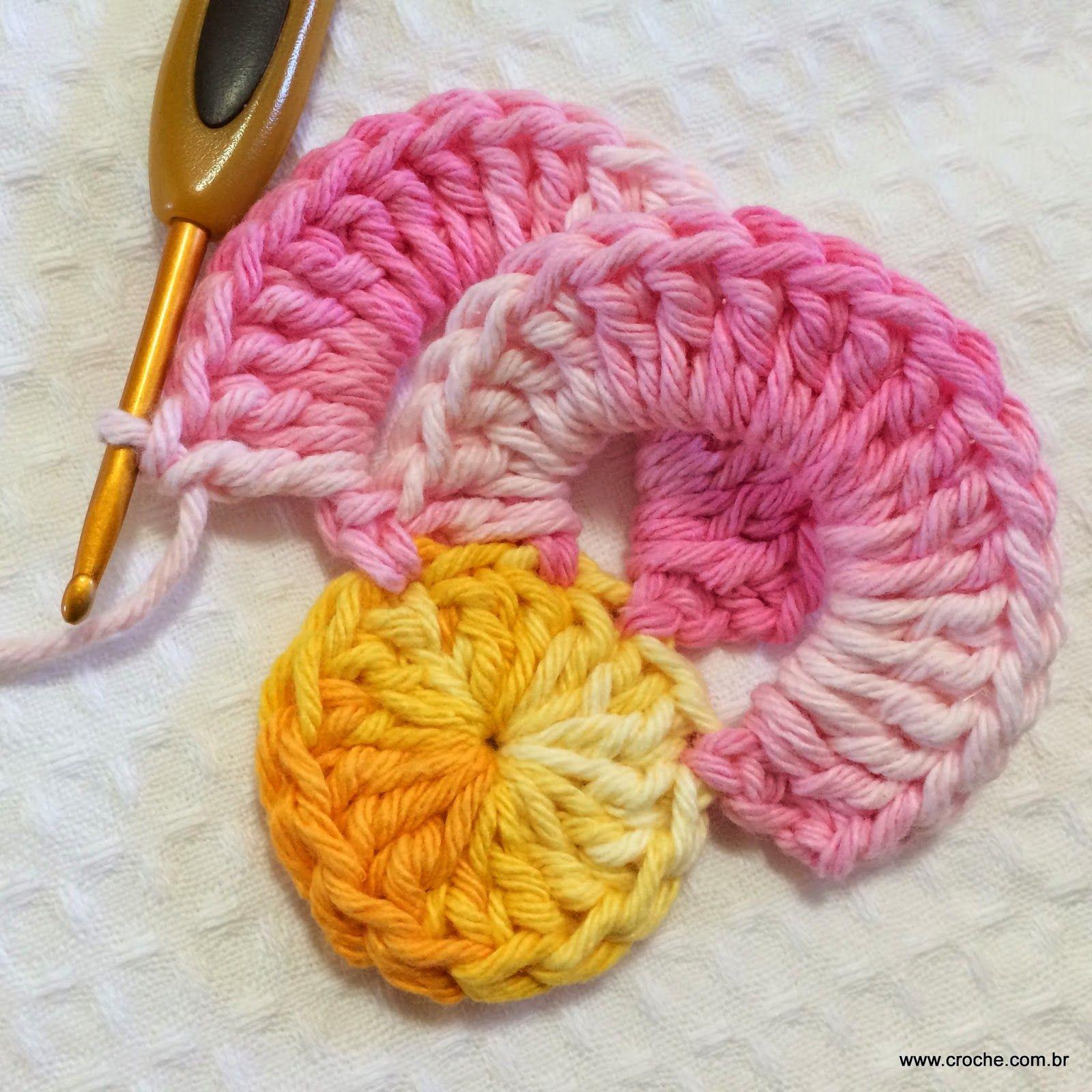 Resultado De Imagem Para Como Fazer Flor De Croche Passo A