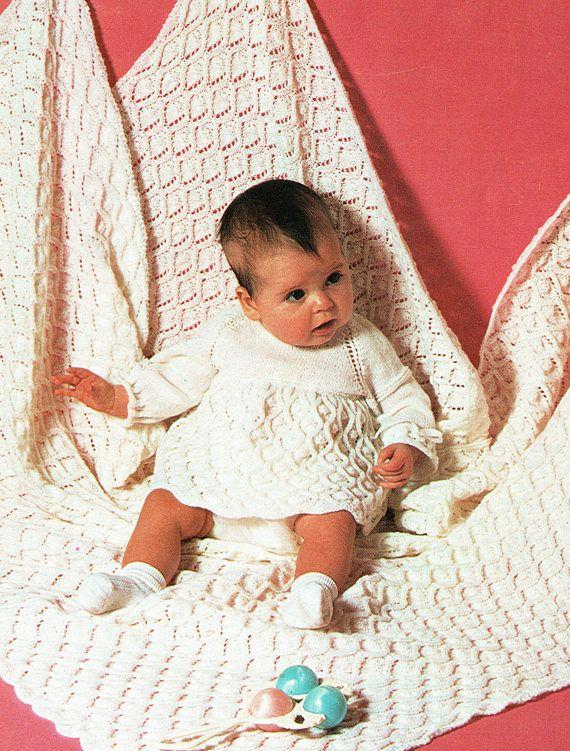 PDF Vintage Baby Knitting Pattern Christening Layette Angel ...