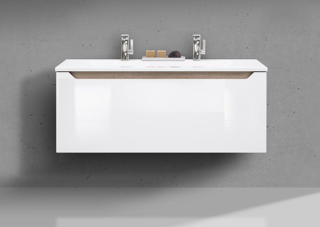 badmobel doppelwaschbecken, badmöbel set monza grifflos, 120 cm doppelwaschbecken, weiß, Design ideen