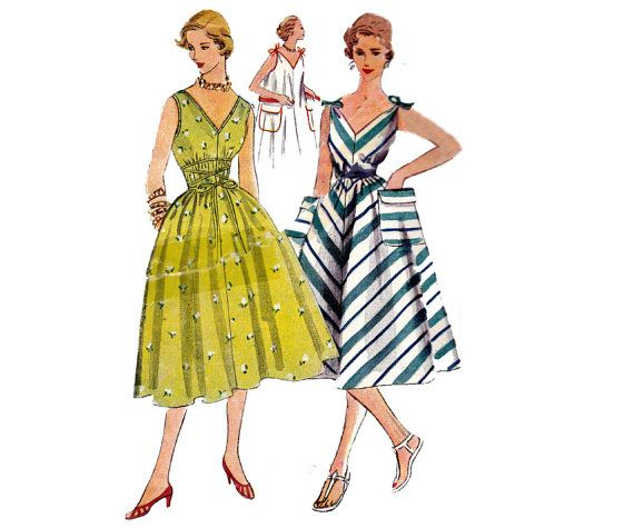 50s Jiffy Tent Dress Pattern Simplicity 4309 Vintage Sewing Pattern ...