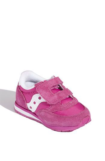 Free shipping and returns on Saucony 'Jazz' Hook & Loop Sneaker (Baby, Walker & Toddler) (Online Only) at Nordstrom.com. Suede overlays detail a stylish sneaker outfitted with a flexible, well-tractioned sole. Hook-and-loop closure ensures a secure, comfy fit.